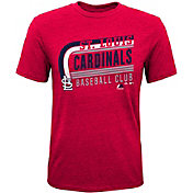 Majestic Youth St. Louis Cardinals Tri-Blend Curveball Red T-Shirt