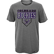 Majestic Youth Colorado Rockies Heirloom Grey T-Shirt
