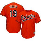 Majestic Youth Replica Baltimore Orioles Chris Davis #19 Cool Base Alternate Orange Jersey