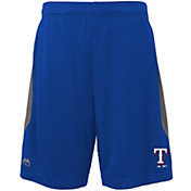 Majestic Youth Texas Rangers Cool Base Rally Royal Performance Shorts