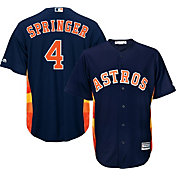 Majestic Youth Replica Houston Astros George Springer #4 Cool Base Alternate Navy Jersey