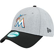 New Era Men's Miami Marlins 9Forty Grey Adjustable Hat