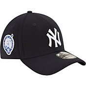 New Era Men's New York Yankees 39Thirty Navy Flex Hat w/ Derek Jeter Jersey Retirement Patch