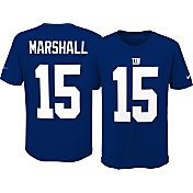 Nike Youth New York Giants Brandon Marshall #15 Pride Blue T-Shirt