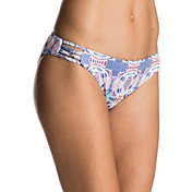 Roxy Women's Printed Strappy Love Reversible 70's Bikini Bottoms