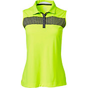 Slazenger Women's Triad Collection Perforated Chest Sleeveless Golf Polo