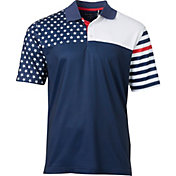 Walter Hagen Men's USA Flag Print Golf Polo