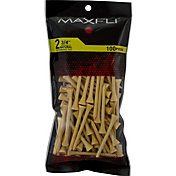 Maxfli 2.75'' Natural Golf Tees – 100-Pack