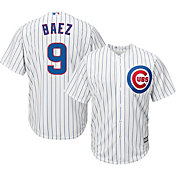 Majestic Men's Replica Chicago Cubs Javier Baez #9 Cool Base Home White Jersey