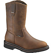 "Wolverine Men's Brek 10"" Wellington Waterproof DuraShocks Steel Toe Work Boots"