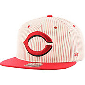 '47 Men's Cincinnati Reds Woodside Captain Pinstripe Adjustable Hat