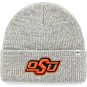 '47 Men's Oklahoma State Cowboys Heathered Grey Brain Freeze Cuffed Knit
