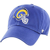'47 Men's Los Angeles Rams Clean Up Throwback Royal Adjustable Hat
