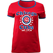 5th & Ocean Women's Chicago Cubs Red T-Shirt