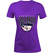 5th & Ocean Women's Colorado Rockies Purple V-Neck T-Shirt