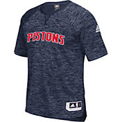 adidas Men's Detroit Pistons On-Court Navy Shooting Shirt