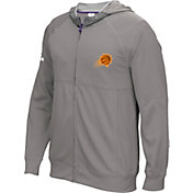 adidas Men's Phoenix Suns Pre-Game Grey Full-Zip Hoodie