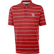 Antigua Men's Houston Cougars Red Deluxe Performance Polo