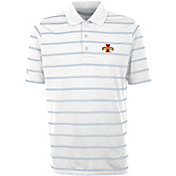 Antigua Men's Iowa State Cyclones Deluxe Performance White Polo