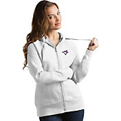 Antigua Women's Toronto Blue Jays White Victory Full-Zip Hoodie