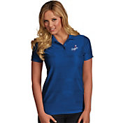 Antigua Women's Los Angeles Dodgers Illusion Royal Striped Performance Polo