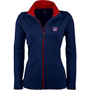 Antigua Women's FC Dallas Navy Leader Full-Zip Jacket