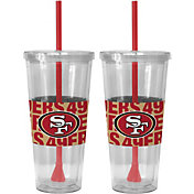 Boelter San Francisco 49ers Bold Sleeved 22oz Straw Tumbler 2-Pack
