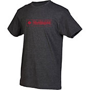boxercraft Men's San Diego State Aztecs Grey Just for You Crew Block Wordmark and Logo T-Shirt