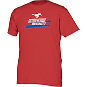 boxercraft Men's Southern Methodist Mustangs Red Just for You Crew Wordmark and Logo T-Shirt