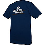 boxercraft Youth BYU Cougars Blue Just for You Crew Wordmark and Logo T-Shirt