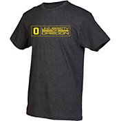 boxercraft Youth Oregon Ducks Grey Just for You Crew Wordmark and Logo T-Shirt