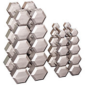 Body Solid Grey Hex 5-50 lb Dumbbell Set