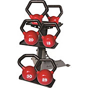 Body Solid 5-30 lb. Vinyl Kettlebell Set with Rack