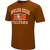 Colosseum Men's Bowling Green Falcons Brown Dual Blend T-Shirt