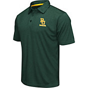 Colosseum Athletics Men's Baylor Bears Green Heathered Performance Polo