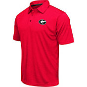 Colosseum Men's Georgia Bulldogs Red Heathered Performance Polo