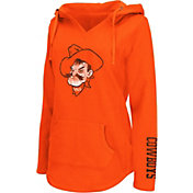Colosseum Athletics Women's Oklahoma State Cowboys Orange Walkover V-Neck Hooded Pullover