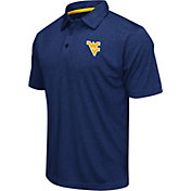 Colosseum Men's West Virginia Mountaineers Blue Heathered Performance Polo