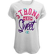 Champion Girls' Strong and Sweet Graphic T-Shirt