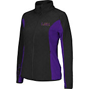 Colosseum Athletics Women's LSU Tigers Black/Purple Alpine Quilted Full-Zip Jacket