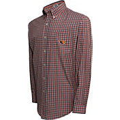 Campus Specialties Men's Oregon State Beavers Black Multi-Checkered Woven Long Sleeve Shirt