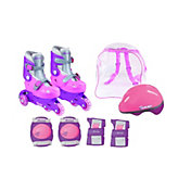 Chicago Girls' Adjustable Training Inline Skates Combo