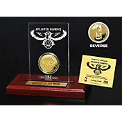 The Highland Mint Atlanta Hawks Gold Coin Etched Acrylic