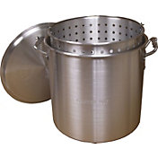 King Kooker 120 Quart Aluminum Pot with Basket and Lid