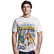 Levelwear Men's Golden State Warriors Steph Curry Center Court White T-Shirt