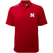 Levelwear Men's Nebraska Cornhuskers Red Helium Polo