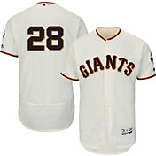 Majestic Men's Authentic San Francisco Giants Buster Posey #28 Home Ivory Flex Base On-Field Jersey