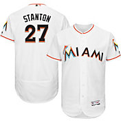 Majestic Men's Authentic Miami Marlins Giancarlo Stanton #27 Home White Flex Base On-Field Jersey