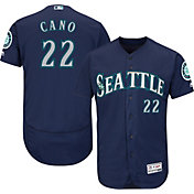 Majestic Men's Authentic Seattle Mariners Robinson Cano #22 Alternate Navy Flex Base On-Field Jersey