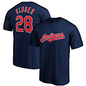 Majestic Men's Cleveland Indians Corey Kluber #28 Navy T-Shirt